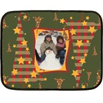 Christmas stars fleece blanket - Fleece Blanket (Mini)