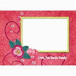 5x7 Pink Poinsettia Holiday Card - 5  x 7  Photo Cards