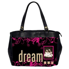 Dream Create Inspire Oversized Office Bag By Catvinnat   Oversize Office Handbag (2 Sides)   Yvay20vy1i6k   Www Artscow Com Front