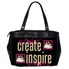 Dream Create Inspire Oversized Office Bag By Catvinnat   Oversize Office Handbag (2 Sides)   Yvay20vy1i6k   Www Artscow Com Back