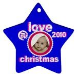 love @ christmas  2010 star ornament - Ornament (Star)