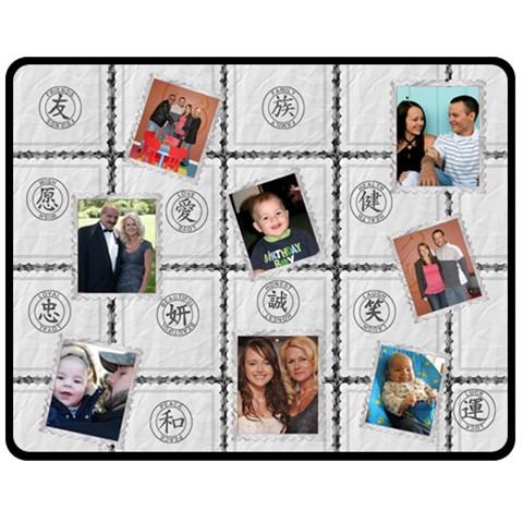 Family, Friends Memory Medium Fleece Blanket By Lil    Fleece Blanket (medium)   Obi1ovia4f4d   Www Artscow Com 60 x50 Blanket Front