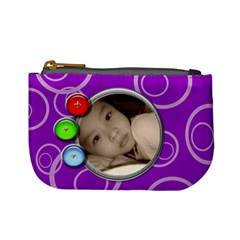 Purple Mini Custom Coin Purse By Purplekiss   Mini Coin Purse   1ybvhbgk4wew   Www Artscow Com Front