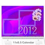 Colorful calendar_2012 - Wall Calendar 11  x 8.5  (12-Months)