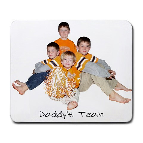 Daddys Present By April Bottoms   Large Mousepad   8rmo2woz3jez   Www Artscow Com Front