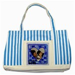 Blue heart - Tote bag - Striped Blue Tote Bag