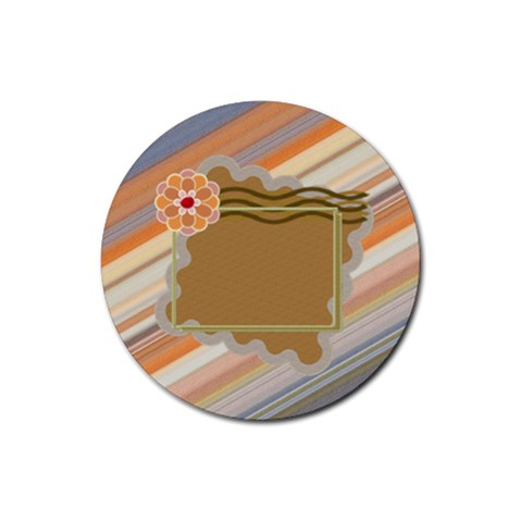 Beautiful Flower By Daniela   Rubber Round Coaster (4 Pack)   Krakx0wo5p87   Www Artscow Com Front