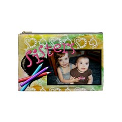Sisters Crayon Bag By Sheri Ellis   Cosmetic Bag (medium)   Kj3keftgkwfr   Www Artscow Com Front