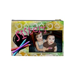 Sisters Crayon Bag By Sheri Ellis   Cosmetic Bag (medium)   Kj3keftgkwfr   Www Artscow Com Back
