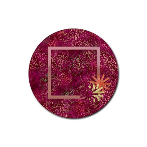 Coaster Girl Power 1001 By Lisa Minor   Rubber Round Coaster (4 Pack)   Ez11togmtlfk   Www Artscow Com Front