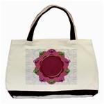 Flower frame - Basic Tote Bag (Two Sides)