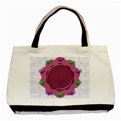 Flower Frame By Daniela   Basic Tote Bag (two Sides)   14goku9zam2s   Www Artscow Com Back