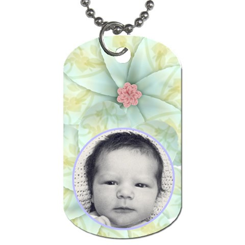 Dove Love Dog Tag By Joan T   Dog Tag (one Side)   4obmedd6iqa7   Www Artscow Com Front