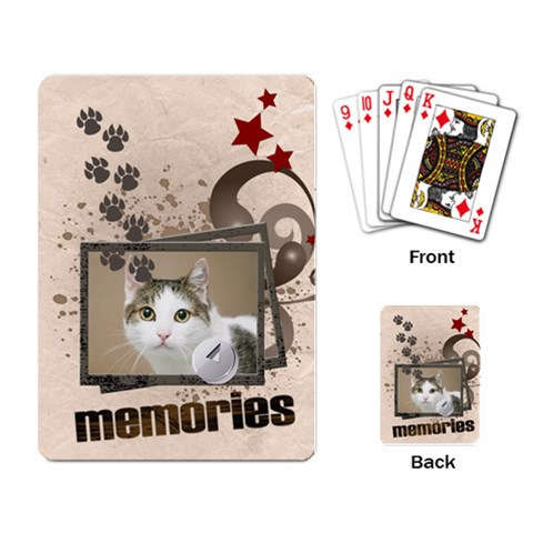 Pet By Joely   Playing Cards Single Design   Qcb9mnsw74p4   Www Artscow Com Back