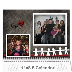 Our Family Viau 2011 By Kellie   Wall Calendar 11  X 8 5  (12 Months)   76cwqd8tzbcl   Www Artscow Com Cover