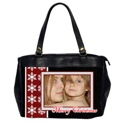 Christmas By Wood Johnson   Oversize Office Handbag (2 Sides)   U4xd3venc33o   Www Artscow Com Front