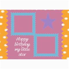 Happy Birthday Kids 7x5 Cards By Daniela   5  X 7  Photo Cards   102n50mo4sre   Www Artscow Com 7 x5 Photo Card - 10