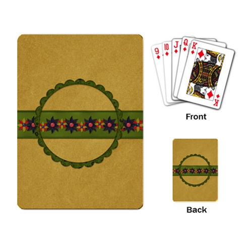 Gypsy Fall Playing Cards 1002 By Lisa Minor   Playing Cards Single Design   Kidypfizoexc   Www Artscow Com Back