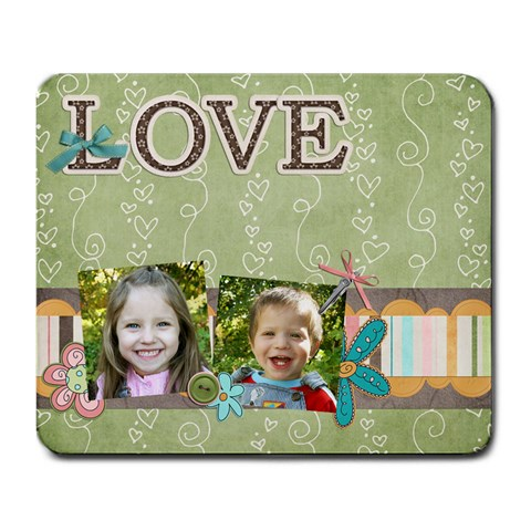 Love  Mouse Pad 2 By Sheena   Large Mousepad   Gi3no502wu3n   Www Artscow Com Front