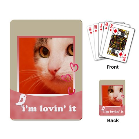 My Pet By Joely   Playing Cards Single Design   71mhovmjbx1p   Www Artscow Com Back