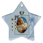 Baby Boy Star Ornament - Ornament (Star)