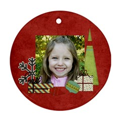 Joy Ornament 7 By Sheena   Round Ornament (two Sides)   Xhv6dcsxq2yg   Www Artscow Com Front