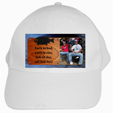 Fishing Cap By Lil    White Cap   X9oe6l0wk2d4   Www Artscow Com Front
