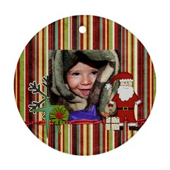 Joy Ornament 8 By Sheena   Round Ornament (two Sides)   K8l7l4nkhf4i   Www Artscow Com Front