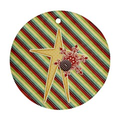 Joy Ornament 8 By Sheena   Round Ornament (two Sides)   K8l7l4nkhf4i   Www Artscow Com Back