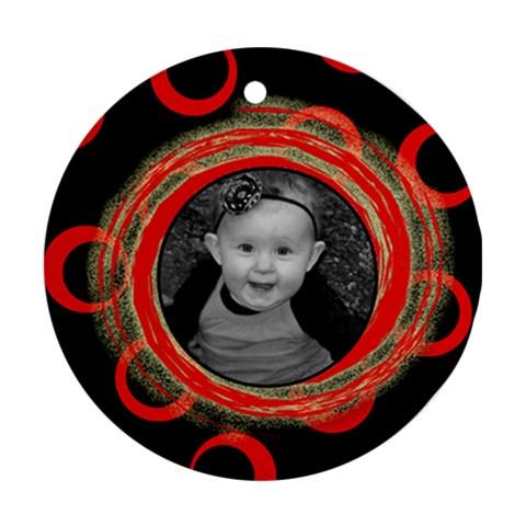 Red Wild Ornament By Amanda Bunn   Ornament (round)   Wa13dmfl1otb   Www Artscow Com Front