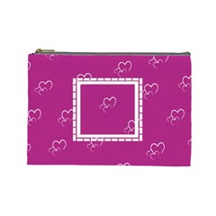 With Love   Large Purse By Daniela   Cosmetic Bag (large)   399naf67tnbx   Www Artscow Com Front