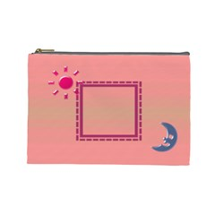 Day & Night   Large Cosmetic Bag By Daniela   Cosmetic Bag (large)   Bzhu1eyvpqm4   Www Artscow Com Front