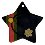 Gypsy Fall 2 sided STAR ornament 1001 - Star Ornament (Two Sides)