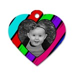 Wild Child Heart Tag - Dog Tag Heart (One Side)