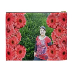 Flower Framed Cosmetic Bag Xl 2 By Galya   Cosmetic Bag (xl)   Jllattn556g9   Www Artscow Com Back