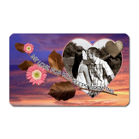 My Love For You     Rectangle Magnet By Lil    Magnet (rectangular)   5x8g1t0hsak7   Www Artscow Com Front