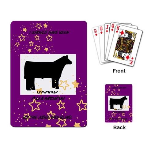 Gc Steer By Shelly   Playing Cards Single Design   6unw3s99bss8   Www Artscow Com Back