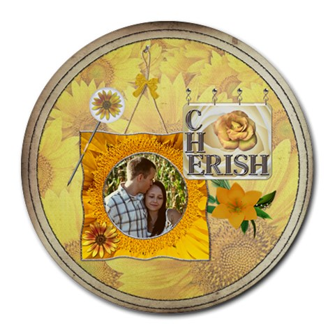 Cherish Round Mousepad By Lil    Round Mousepad   Fqyudre3ig3s   Www Artscow Com Front