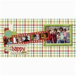 Happy Holidays 8x4 Card 1004 - 4  x 8  Photo Cards