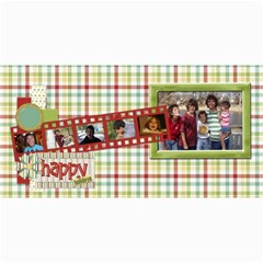 Happy Holidays 8x4 Card 1004 By Lisa Minor   4  X 8  Photo Cards   Ajo59mr7nt35   Www Artscow Com 8 x4 Photo Card - 8