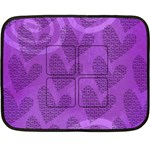 purple LOVE - BLANKET - Fleece Blanket (Mini)