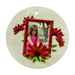 Happy Holidays Ornament 1006 - Round Ornament (Two Sides)
