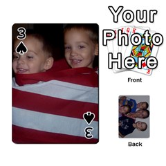 Daddys Cards By Kayla   Playing Cards 54 Designs   9x3goo7ndbd6   Www Artscow Com Front - Spade3