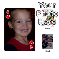 Daddys Cards By Kayla   Playing Cards 54 Designs   9x3goo7ndbd6   Www Artscow Com Front - Heart4