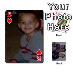 Daddys Cards By Kayla   Playing Cards 54 Designs   9x3goo7ndbd6   Www Artscow Com Front - Heart5