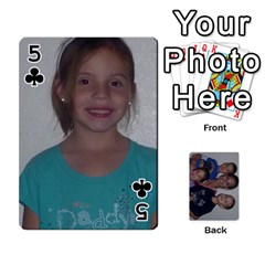 Daddys Cards By Kayla   Playing Cards 54 Designs   9x3goo7ndbd6   Www Artscow Com Front - Club5