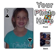 Daddys Cards By Kayla   Playing Cards 54 Designs   9x3goo7ndbd6   Www Artscow Com Front - Club7