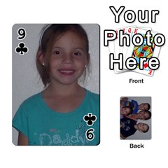 Daddys Cards By Kayla   Playing Cards 54 Designs   9x3goo7ndbd6   Www Artscow Com Front - Club9