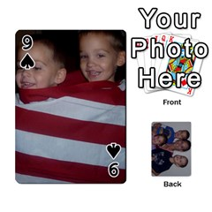 Daddys Cards By Kayla   Playing Cards 54 Designs   9x3goo7ndbd6   Www Artscow Com Front - Spade9