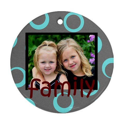 Wild Family Round Ornament By Amanda Bunn   Ornament (round)   Sdc7y7rpvl8j   Www Artscow Com Front